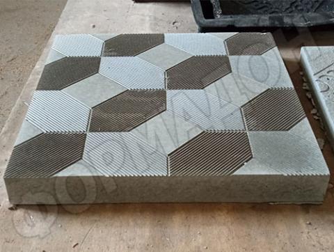 Форма для тротуарной плитки Квадрат ковер