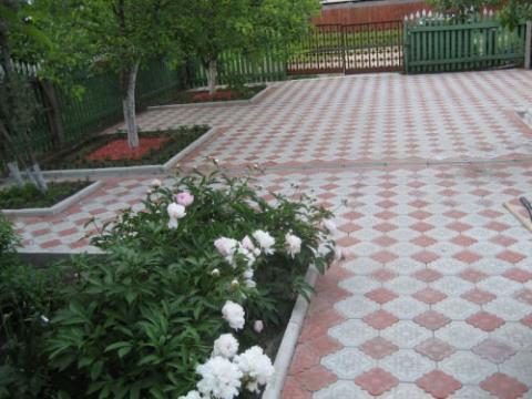 Форма для изготовления тротуарной плитки Клевер большой
