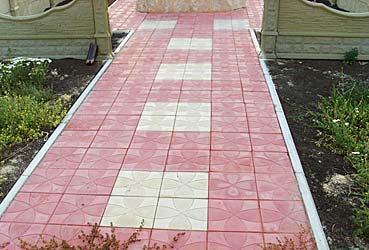 Форма для изготовления тротуарной плитки ЦВЕТОК