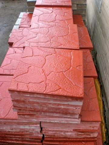 Форма для изготовления тротуарной плитки Тучка 3 см.