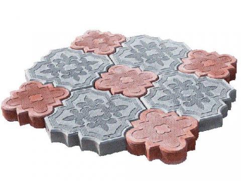 Форма для изготовления тротуарной плитки Клевер малый