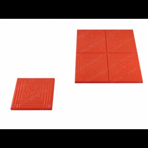 Форма для изготовления тротуарной плитки Звезда давида (4 см)