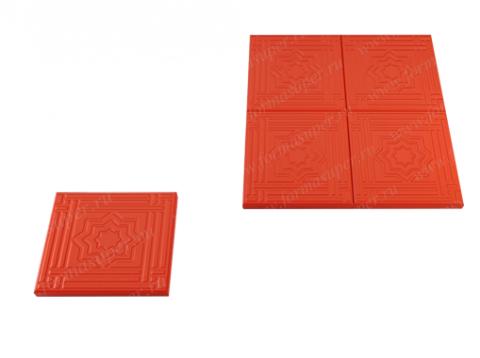Форма для изготовления тротуарной плитки Звезда давида (3 см)